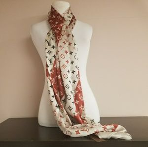 New large silk Louis Vuitton scarf/wrap.